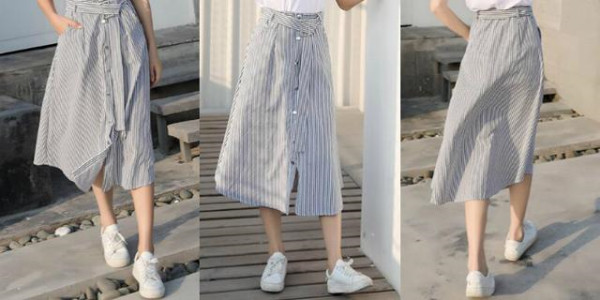 In Summer, Girls Wear Flat Shoes With these Skirts, Which are Super Nice!